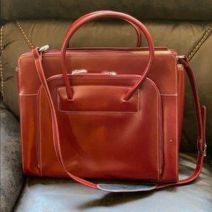 NWT Mcklein women's leather laptop case